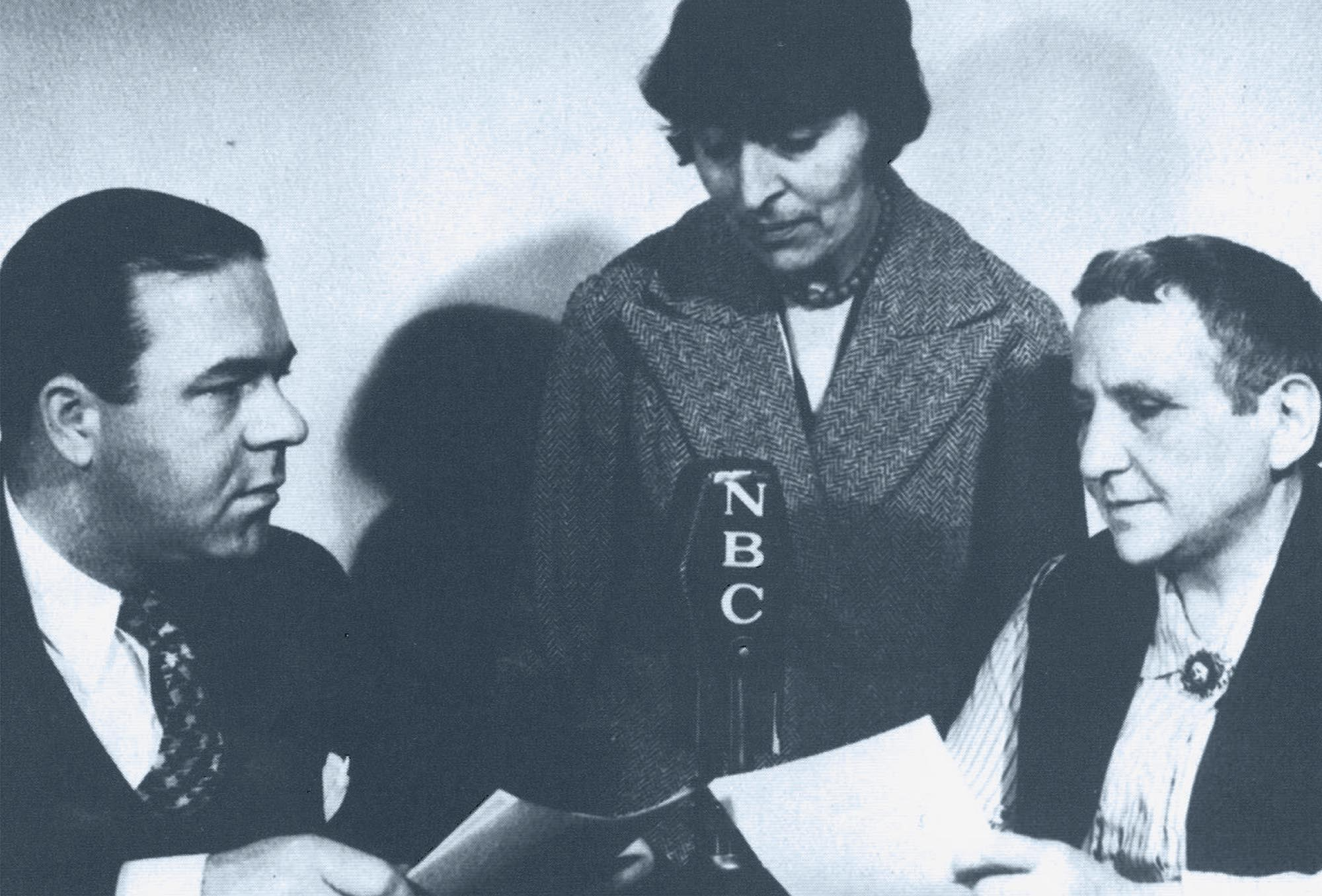Gertrude Stein & Alice B. Toklas give an NBC interview.